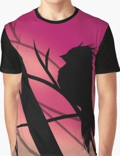 Bird Silhouette - Blush Graphic T-Shirt
