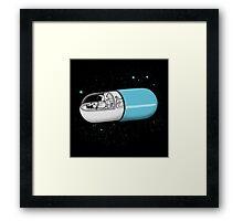 Time Travel Capsule Framed Print
