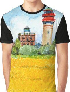 Ostsee Leuchtturm Cap Ascona, Rügen Graphic T-Shirt