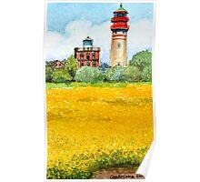 Ostsee Leuchtturm Cap Ascona, Rügen Poster