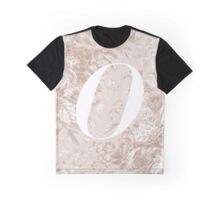 'O' Letter, Vintage Literary Print Graphic T-Shirt