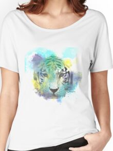 Abstract Tiger Women's Relaxed Fit T-Shirt