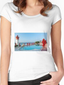 The Pool Women's Fitted Scoop T-Shirt
