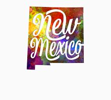 New Mexico US State in watercolor text cut out Unisex T-Shirt