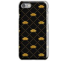 Golden hearts on black. iPhone Case/Skin