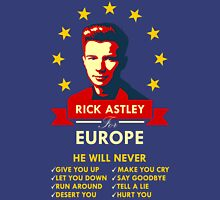 Rick Astley for Europe Unisex T-Shirt