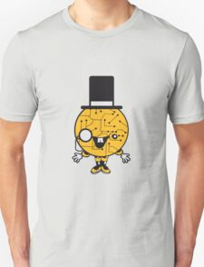 robot sir mr gentlemen cylindrical hat glasses monocle man manikin sweet cute funny comic cartoon cyborg T-Shirt