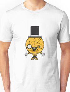 robot sir mr gentlemen cylindrical hat glasses monocle man manikin sweet cute funny comic cartoon cyborg Unisex T-Shirt