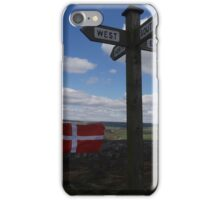 Flags and Directions on Ilkley Moor iPhone Case/Skin