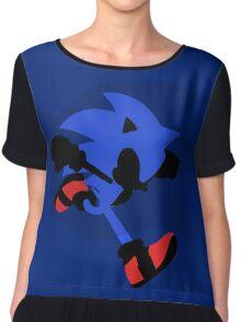 Sonic Silhouette Chiffon Top