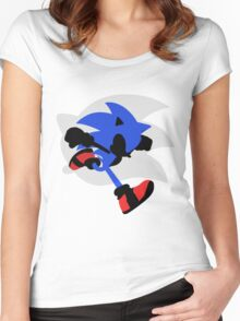 Sonic Silhouette Women's Fitted Scoop T-Shirt