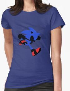 Sonic Silhouette Womens Fitted T-Shirt