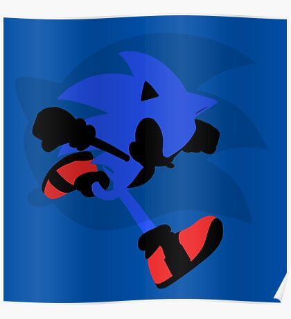 Sonic Silhouette Poster