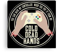Cold Dead Hands - Xbox Canvas Print
