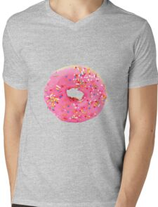 Pink donut Mens V-Neck T-Shirt