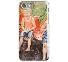 Cool Treats on the Butterfly Bench iPhone Case/Skin
