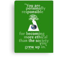 ethical Canvas Print