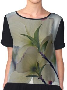 Dogwood Blossoms Chiffon Top