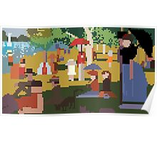 Pixel Sunday Afternoon on La Grande Jatte Poster