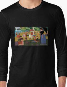 Pixel Sunday Afternoon on La Grande Jatte Long Sleeve T-Shirt