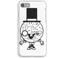 robot sir mr gentlemen cylindrical hat glasses monocle man manikin sweet cute funny comic cartoon cyborg iPhone Case/Skin