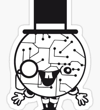 robot sir mr gentlemen cylindrical hat glasses monocle man manikin sweet cute funny comic cartoon cyborg Sticker
