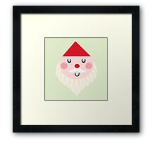 Adorable christmas Santa with Red Hat Framed Print