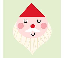 Adorable christmas Santa with Red Hat Photographic Print