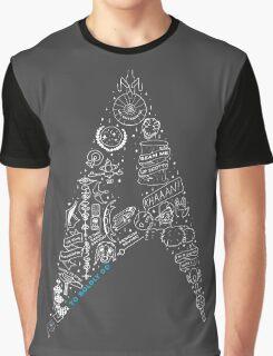 Live Long & Prosper - Star Trek Classic Doodles Graphic T-Shirt