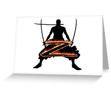 Z for Zoro Greeting Card