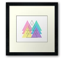Pantone Pastel Triangles Framed Print