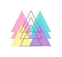 Pantone Pastel Triangles Photographic Print