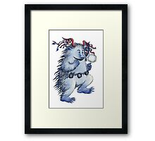 Little carnival monster Framed Print