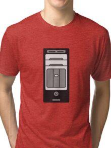 computers computer pc tower housing Tri-blend T-Shirt