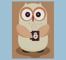 OWL AND CUPPA Kids Tee