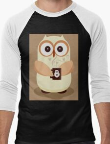 OWL AND CUPPA Men's Baseball ¾ T-Shirt