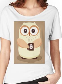 OWL AND CUPPA Women's Relaxed Fit T-Shirt