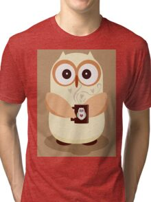 OWL AND CUPPA Tri-blend T-Shirt
