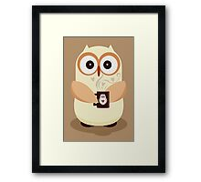 OWL AND CUPPA Framed Print