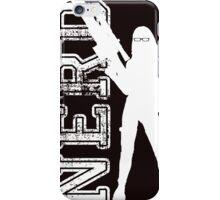 Nerd with a gun iPhone Case/Skin