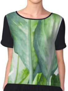 tropic abstract  Chiffon Top