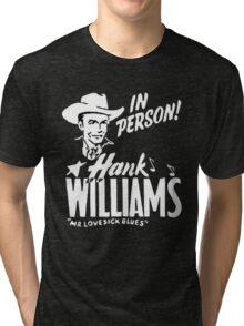 Best HANK WILLIAMS Vintage Design Tri-blend T-Shirt