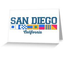 San Diego - California. Greeting Card