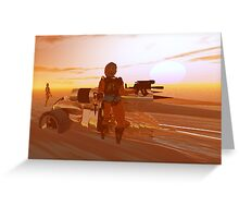 ARES CYBORG IN THE DESERT OF HYPERION,Sci Fi Movie Greeting Card