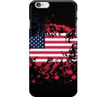 United States Flag Ink Splatter iPhone Case/Skin