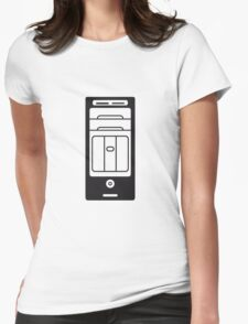 computers computer pc tower housing Womens Fitted T-Shirt
