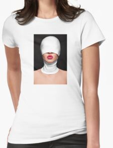 sexy erotic glamour girl with pink lips model Womens Fitted T-Shirt