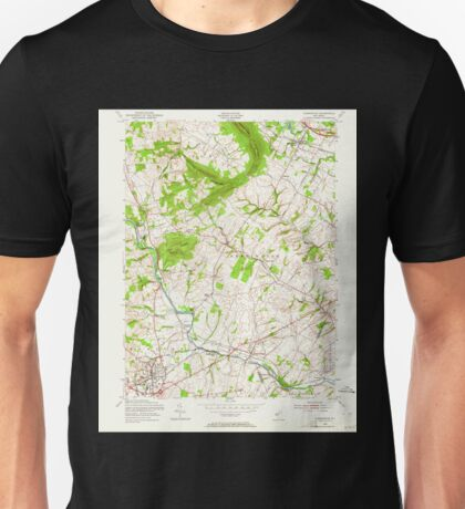 USGS TOPO Map New Jersey NJ Flemington 254383 1954 24000 Unisex T-Shirt