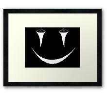 Creepy Face Framed Print