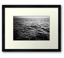 in the middle of the sea Framed Print
